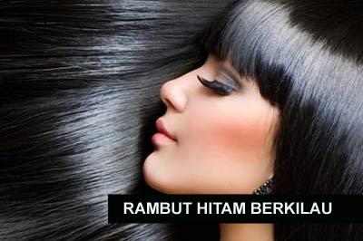 rambut hitam alami